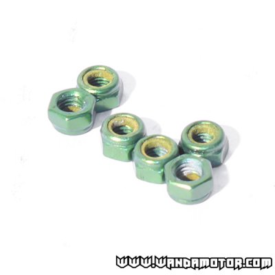 Nut 5mm green 12pcs