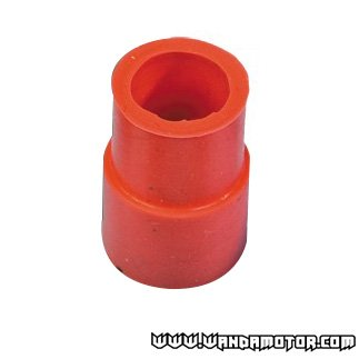 Exhaust pipe rubber red Ø18-22