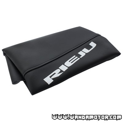 Seat cover Rieju RR black with text