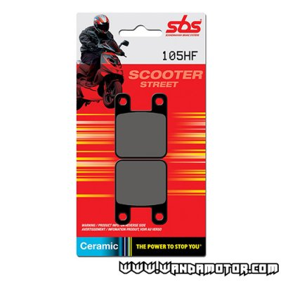 SBS 105HF brake pads Derbi