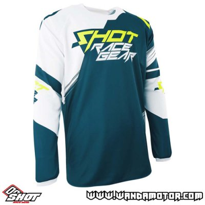 Shot Contact Claw jersey blue-neon yellow 2XL
