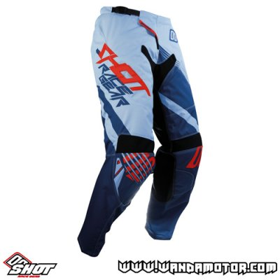 Shot Contact Claw pant blue red 34