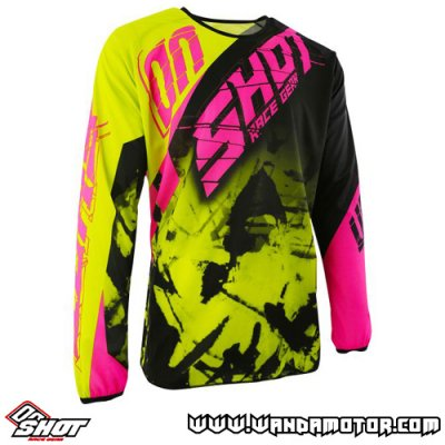 Shot Devo Squad jersey lime neon pink M
