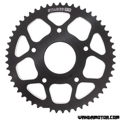 Rear sprocket Stage6 Peugeot XPS, Rieju MRT 53t black