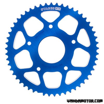 Rear sprocket Stage6 Peugeot XPS, Rieju MRT 53t blue