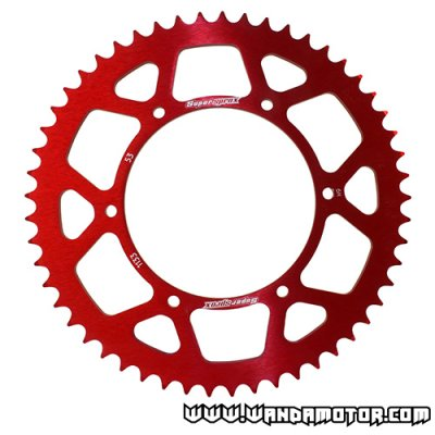 Supersprox rear sprocket Ø108mm 53t red