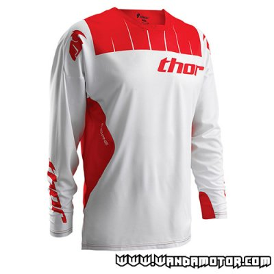 Thor Core Air S16 jersey white/red L