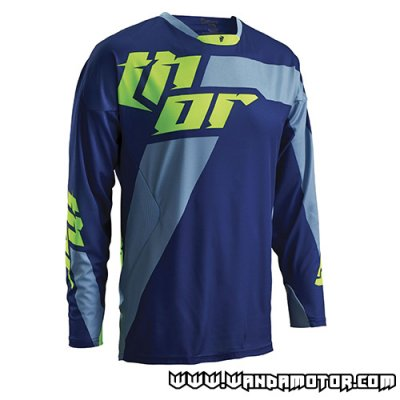 Thor Core Air S16 jersey Navy Lime M