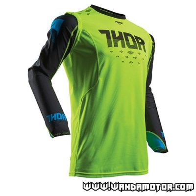 Thor Prime Fit Rohl jersey fluo green S