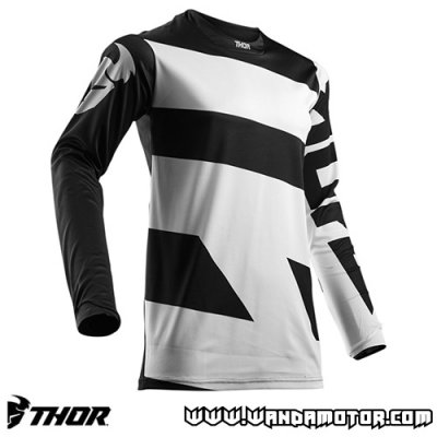 Thor Pulse Level jersey white-black M