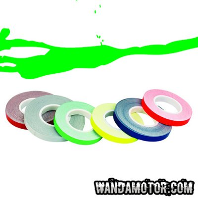 Rim tape 7mm x 6m fluorescent green