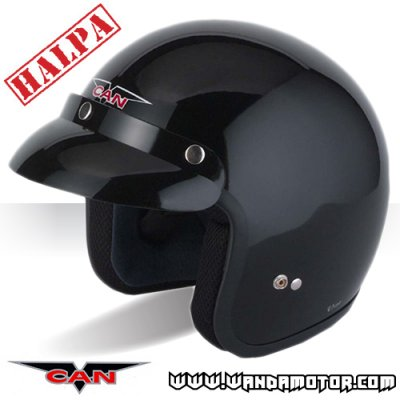 V-Can V500 Open Face helmet matte black XL