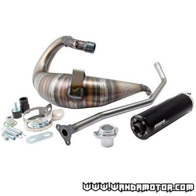 Exhaust system Voca Cross Rookie 50/70cc Derbi Senda black