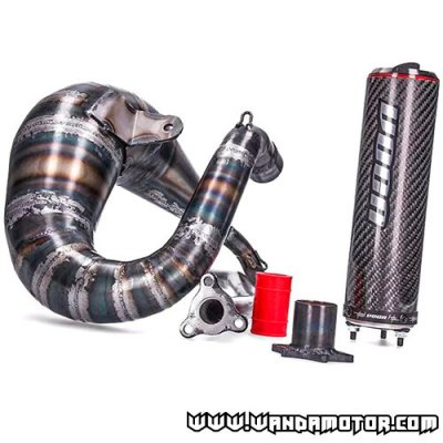 Exhaust system Voca Cross Carbon 80/90cc Derbi DRD Pro