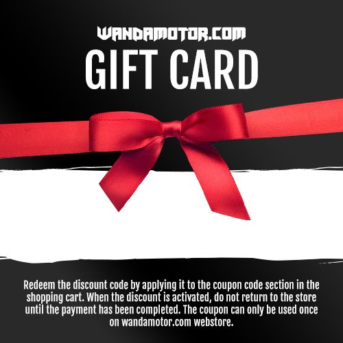 Wandamotor gift card